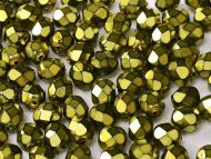 FP03 Heavy Metal Olivine 3 mm Fire Polished