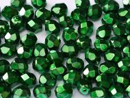 FP03 Heavy Metal Emerald 3 mm Fire Polished