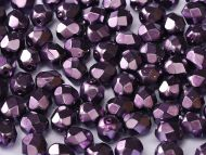FP03 Heavy Metal Dark Magenta 3 mm Fire Polished ~ 100 x