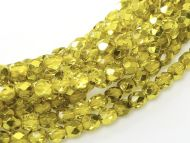 FP03 Metallic Ice Crystal Citron Gold 3 mm Fire Polished