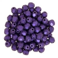 FP03 Polychrome Purple 3 mm Fire Polished - 100 x