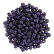 FP03 Polychrome Dark Purple 3 mm Fire Polished - 100 x