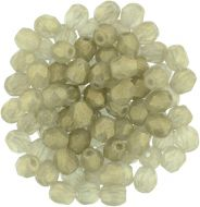 FP04 Sueded Gold Black Diamond 4 mm Fire Polished - 100 x