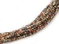 FP02 Crystal Rainbow Copper 2 mm Fire Polished - 1.5 grams