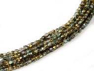 FP02 Crystal Rainbow Gold 2 mm Fire Polished ~ 150 x