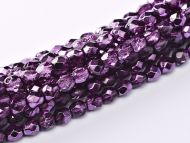 FP03 Metallic Ice Crystal Amethyst 3 mm Fire Polished