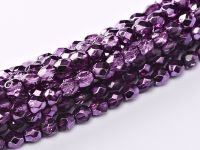 FP04 Metallic Ice Crystal Amethyst 4 mm Fire Polished