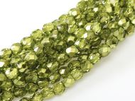 FP03 Metallic Ice Crystal Olive 3 mm Fire Polished