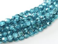 FP03 Metallic Ice Crystal Turquoise 3 mm Fire Polished