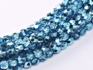 FP03 Metallic Ice Crystal Teal 3 mm Fire Polished