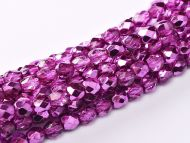 FP03 Metallic Ice Crystal Hot Pink 3 mm Fire Polished