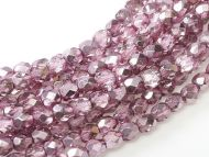 FP03 Metallic Ice Crystal Flamingo Pink 3 mm Fire Polished  ~ 150 x