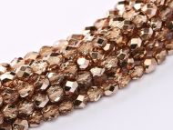 FP03 Metallic Ice Crystal Rose Gold 3 mm Fire Polished