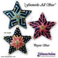 Tutorial Fireworks All Stars 3D Peyote Stars + Basic Tutorial Little 3D Peyote Star (download link per e-mail)