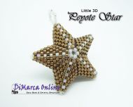 Basis Tutorial - Little 3D Peyote Star in het NEDERLANDS (download link per e-mail)