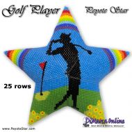 Tutorial Golf Player 3D Peyote Star + Basic Tutorial (download link per e-mail) - 25 rows