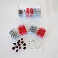 Mos-GR Grey/Red Shiny Mosaic Bead & Chaton Pack - Akke Jonkhof