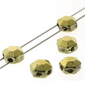 HCJ-26443 Chiseled Amber Full (Gold) Honeycomb Jewels - 30 x