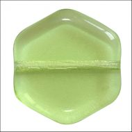 HG-50520 Peridot Hexagon Puca Vintage 16 mm - 10 x * BUY 1 - GET 1 FREE *