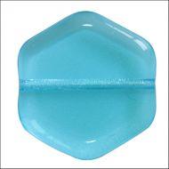 HG-60020 Aqua Hexagon Puca Vintage 16 mm - 10 x * BUY 1 - GET 1 FREE *