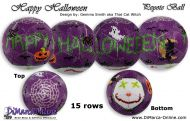Tutorial 15 rows - Happy Halloween Peyote Ball incl. Basic Tutorial (download link per e-mail)