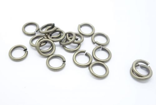 Jump Rings 6 mm Antique Bronze Plated - 10 grams