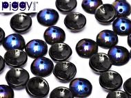P-23980/22201 Jet Azuro Piggy Beads ~ 50 x * BUY 1 - GET 1 FREE *