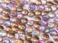 L1-00030/98533 Crystal Rainbow Copper Lentils 1-Hole