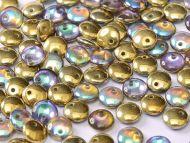 L1-00030/98536 Crystal Rainbow Gold Lentils 1-Hole