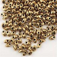 LMA-0457 Metallic Dark Bronze (like DB0022) Magatama Long 4x7 mm Miyuki * BUY 1 - GET 1 FREE *