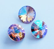 1122 Light Rose Glacier Blue Rivoli 14 mm Swarovski