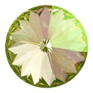 1122 Crystal Luminous Green Rivoli 12 mm Swarovski
