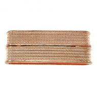 Magnetic Clasp Rectangle Glue-in 38 mm Ribbed Design Rose Gold