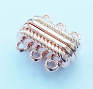 Magnetic Clasp 3 strands Rose Gold