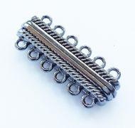 Magnetic Clasp 6 strands Black