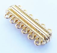 Magnetic Clasp 6 strands Gold