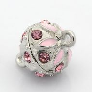 Magnetic Clasp Enamel Pink 13 mm