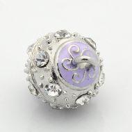 Magnetic Clasp Enamel Swirl Lilac 13 mm