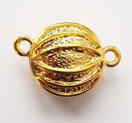 Magnetic Clasp Flat 16 mm Gold