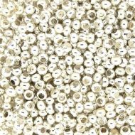 MT15 Silver Plate 15/0 Metal Seed Beads