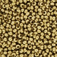 MT11 Yellow Brass 11/0 Metal Seed Beads