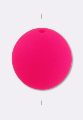 RB3-25123 Neon Hot Pink Round Beads 3 mm - 100 x