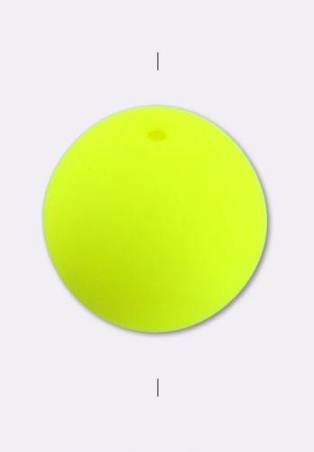 RB3-25121 Neon Yellow Round Beads 3 mm- 100 x