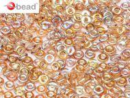 O-00030/98532 Crystal Rainbow Brown O-Beads