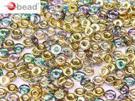 O-00030/98536 Crystal Rainbow Gold O-Beads