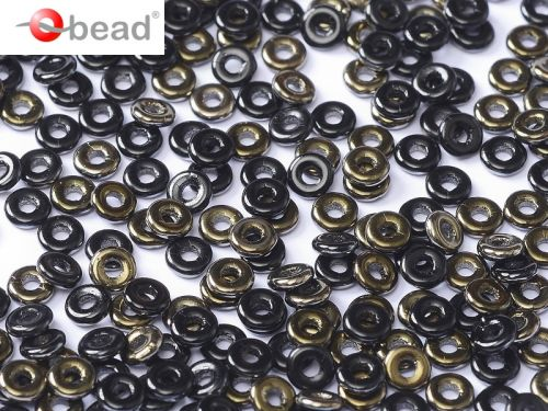 O-23980/22601 Jet Valentinite O-Beads