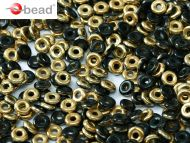 O-23980/26441 Jet Amber (Gold) O-Beads
