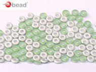 O-50510/27071 Peridot Silver Matt O-Beads