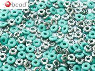 O-63130/27401 Green Turquoise Chroom O-Beads
