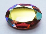 OV1813-00030/98533 Crystal Rainbow Copper Oval Glass 18x13 mm